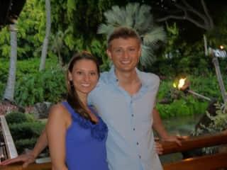 Ryan and Kali at Keoki's Paradise in Kauai, HI