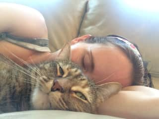Azrael loves to cuddle!