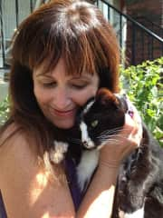 Paulita & our Hemingway cat with extra toes