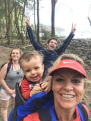 My daughter, son in law and grandson in Hawaii.