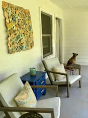 Front porch - great place to sit and watch the world go by.
