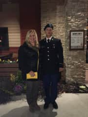 My so complete if basic training, a totally different experience than flying out to see his college soccer games!