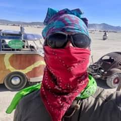 Brendan at Burning Man 2018.
