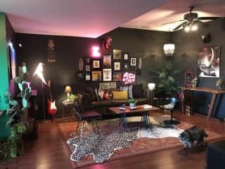 Eclectic studio lounge