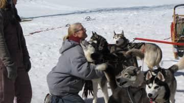 Karen and huskies