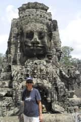Denise exploring Angkor Wat