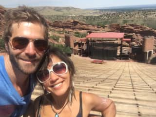 Conrad and Stefanie at Red Rocks Amphitheater