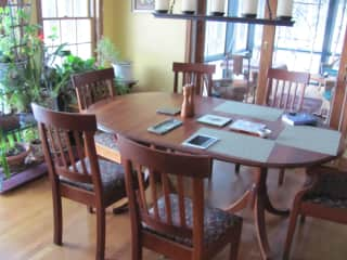Dining area and screened porch