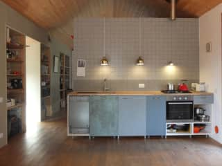 view on the kitchen