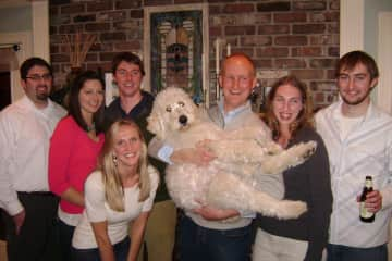 The family with our grandpuppy, Lennon.