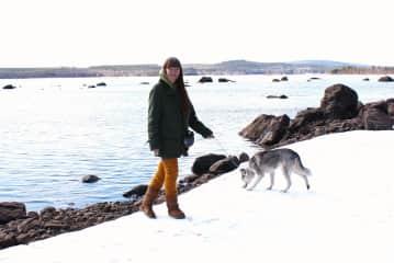 Lena and our Siberian Husky Ronja.