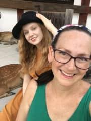 My Daughter and I in Nara, Japan.