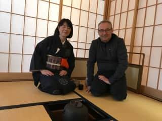 Dan at Tea ceremony in Japan