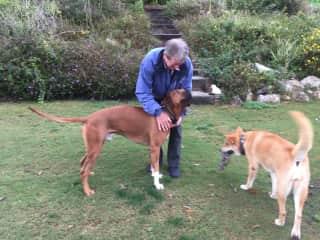 David with Kojo and Tess