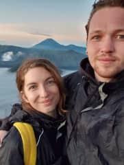 Emilia and Adam by Mt Bromo at sunrise