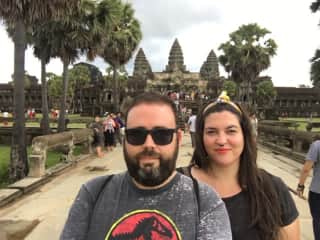 10 hours trekking day in Angkor Wat, Cambodia.