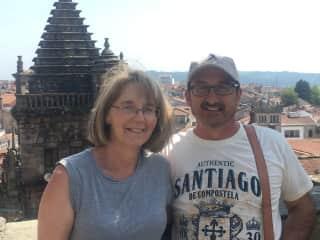 Lloyd and Connie in Santiago