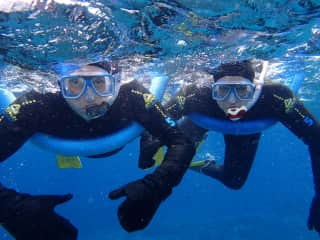 Snorkeling in the Great Barrier Reef, Australia.