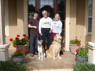 Larry, Susan, Bradley (son), Chester & Zoe