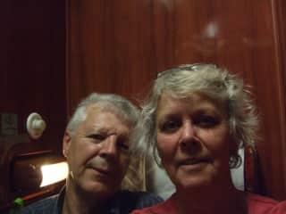 John and Denise on the Trans Mongolian railway