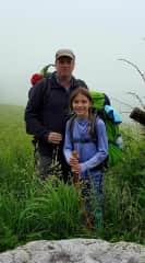 Michael and Kathryn hiking the Appalachian Trail