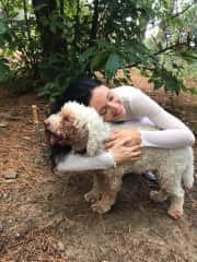 Brea, our loved one dog from the truffle hunting experience in Tuscany, Italy