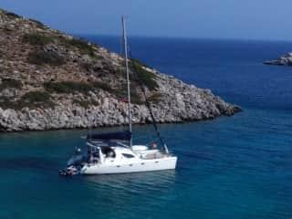 Sailing Vessel Shantaram - our home in the Mediterranean summers.