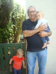 My Grandson Riley and myself.