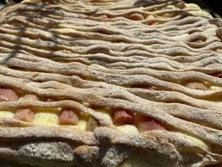 My last rhubarb cake