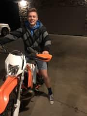 Me and my dirt bike