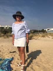 Ruth on Edithvale beach