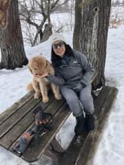 Annie with Louie in Ottawa