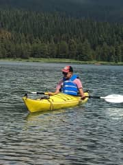 Going camping to a place where you can and kayak is awesome!