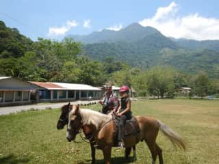 Riding in the mountains of Honduras