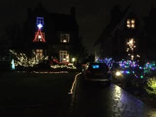 At Christmas our whole road lights up