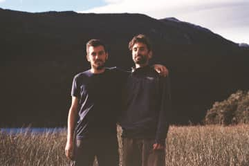 Rami and Joaco in beautiful Los Alerces National Park in Chubut, Argentina