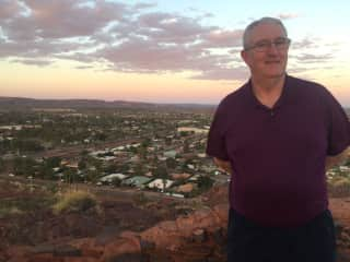 My husband David overlooking Newman, on our last trip to the Pilbara.