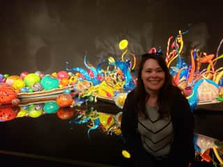 It is our mission to find beautiful art everywhere! Loved this Seattle museum.