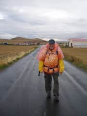 This is Richard doing the Camino de Santiago. He did the full Camino twice.