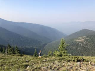 Mattias running seven summits