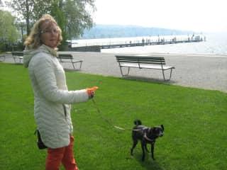 Kathleen with Cezi in Zurich