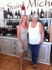 visiting friends at winery in south France