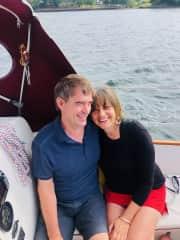 Greg and Terri sailing