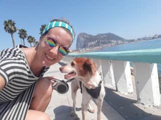 Me with Rosita, house-sitting in Spain