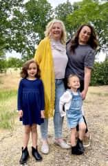 Me, my daughter and granddaughters.