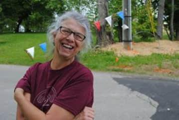 Sherrie volunteers for the Grace Food Pantry