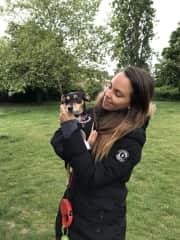 Walks and park cuddles with Luna - jackrussel x dashhound