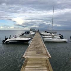 Our dock in summer