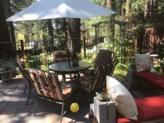 Backyard patio