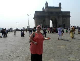 Evelyn at the Gateway to India in Mumbai